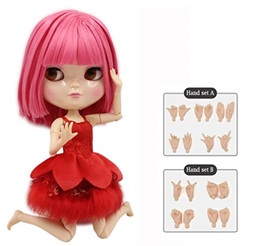Dream fairy ICY dolls Fortune Days Toys 12 inch nude doll with natural skin and small breast joint body like blythe. (BL2476, 30cm)