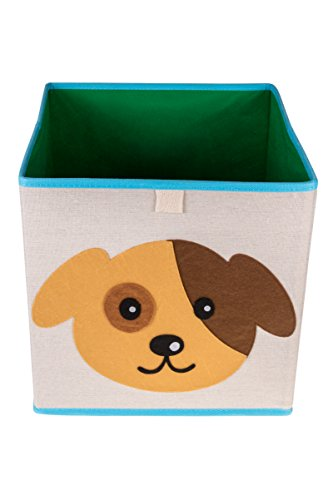 Clever Creations Cute Puppy Dog Collapsible Storage Organizer Folding Storage Cube for Bedroom & Living Room | Perfect Size Storage Cube for Books, Clothes, Electronics, or Gadgets -