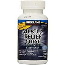 Kirkland Signature Mucus Relief Chest Guaifenesin 400 mg Expectorant - 200 Immediate Release Tablets