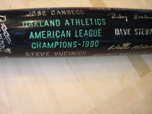 orld Series AL Champions Bat McGwire,Canseco,etc -Exc./Mint ()