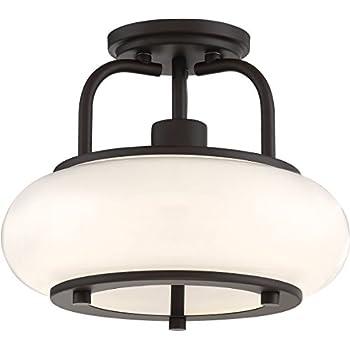 Quoizel LWS2999F Tribeca Semi Flush Ceiling Lighting, 1-Light 100watts, Old Bronze