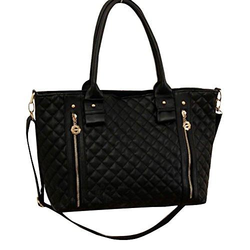 Great Deal(TM) Women Black Shoulder Tote Bag Handbag
