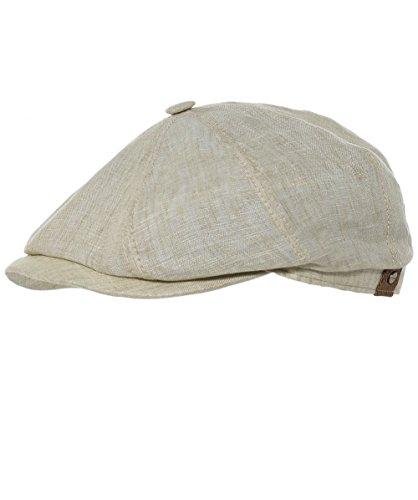 Stetson Men's Linen Hatteras Newsboy Cap 58cm ()