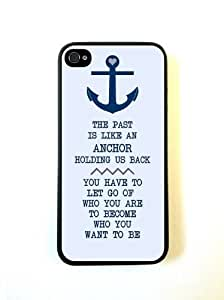 Anchor Nautical Quote iphone 4 Cover Iphone 4s Case Fits iphone 4 Cover Iphon...