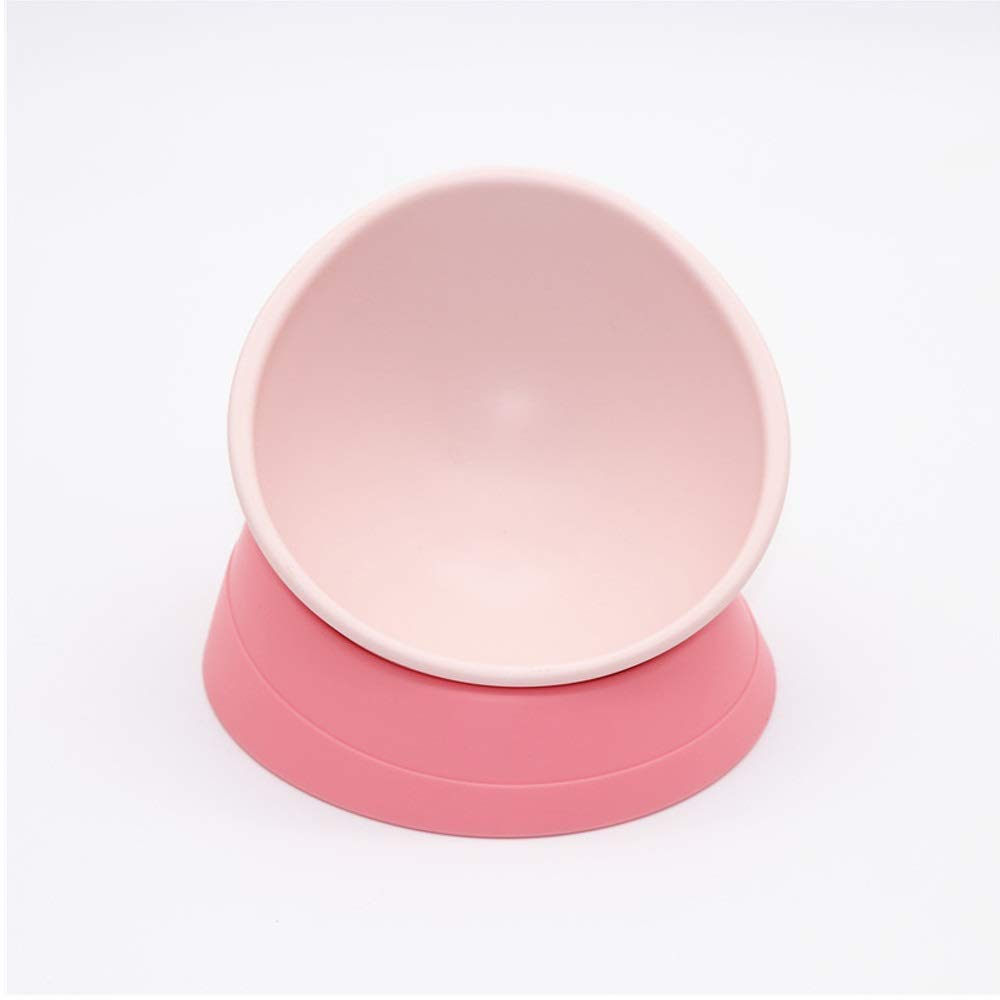 A XF Pet Bowl Anti-Falling Cat Bowl Any Tilting Pet Bowl Predect Cervical Anti-Skid Dog Bowl Pet Supplies, White, Pink Pet Feeding and Watering Supplies (color   A)