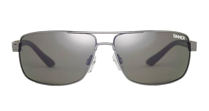Sinner Erwachsene Sonnenbrille Durness Polycarbonat SINTEC Polarisiert, Schwarz Metal, SISU-721-10-P10