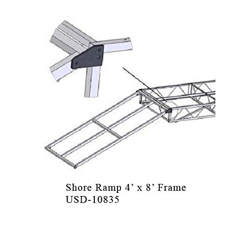 AMRP10835 * Shore Ramp 4' x 8' Frame for Aluminum Docks