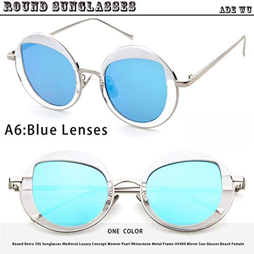 3a5090d4e5f7 Shopystore A6, As Picture: Ade Wu Retro Round Sunglasses Women Brand r  Vintage Oversize Sun: Amazon.in: Clothing & Accessories