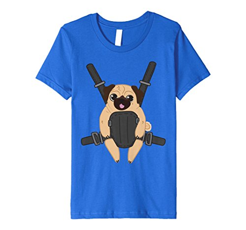 Price comparison product image Kids Pug Puppy Baby Carrier T-Shirt 4 Royal Blue