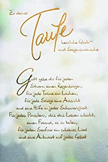 Glückwunschkarte Taufe Mit Umschlagalles Liebe Rosa