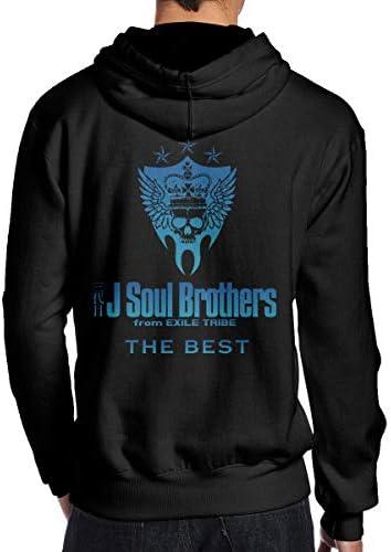 三代目 J Soul Brothers メンズ スウェットシャツ フード付き 流行 プルオーバーパーカー ジム 春秋冬 通勤 登校 長袖 男子 トップス パーカー 100% 棉 後ろプリント