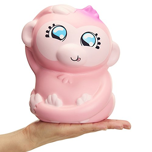 Jumbo Monkey - Squish-Dee-Lish Squishy Jumbo Toy, Squishies - Slow Rising Monkey, Soft Kids Squishy Toys 64413