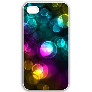 For Apple Iphone 5/5S Case Cover Customized Gifts Fors 3D Graphics colorful bokeh 3D Abstract White
