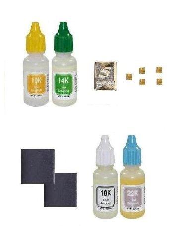 Complete Scrap Gold Testing Kit 10kt, 14kt, 18kt, 22kt, 24kt Jewelry 999 Silver Bullion ()