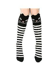 3~12 Years Children Kids Baby Girl Straight Pure Cotton Cartoon Socks Stockings