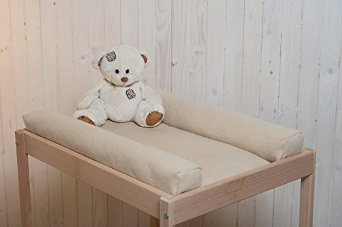 Washable Wool Changing Table Mattress Pad / Zippered Cover / 100% Oeko-Tex Certified Wool Filling / Non - Toxic Bedding / Natural Color / Custom Sizes & Shapes & Fabrics Available / Made - to - Order (Changing Stokke Table)