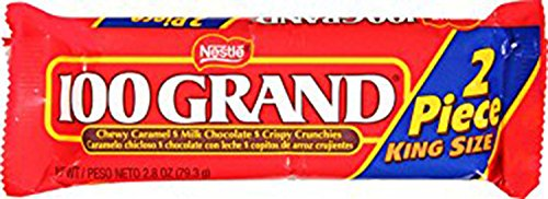 Nestle 100 Grand Share Pack, 2.8-Ounce Candy Bars (Pack of 24) by 100 Grand