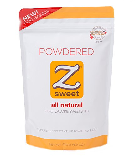 Zsweet All Natural Zero Calorie Sweetener – Non-GMO, Gluten-Free, No Glycemic Impact Erythritol Sugar Alternative – Perfect For Diabetic, Keto, Atkins, Paleo, and Low-Carb Diets (Powdered)