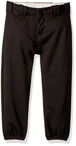 Alleson Ahtletic Girls Fast Pitch Softball Pants, Black, - Youth Belt Athletic Alleson