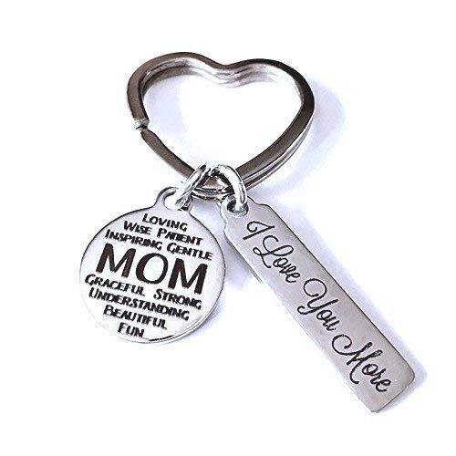 - Mom, I Love You More, Laser Etched Keychain, Mothers Day, Gift for Mom