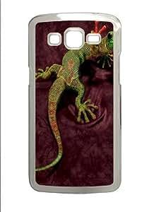 Peace Out Gecko Lizard Custom Samsung Grand 7106/Samsung Grand 2 Case Cover Polycarbonate Transparent
