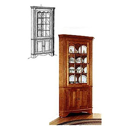 Woodworking Project Paper Plan to Build Colonial Corner Cabinet – DiZiWoods Store