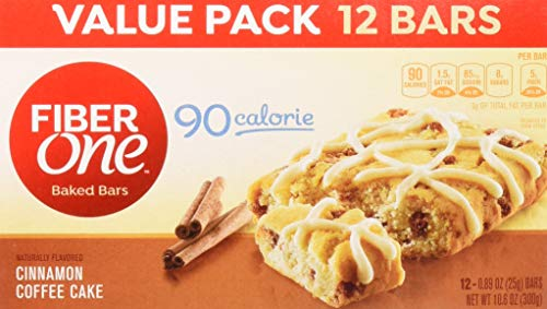 - Fiber One Brownies, 70 Calorie, 5 Net Carbs, Snacks, Cinnamon Coffee Cake, 12ct (Pack of 4)