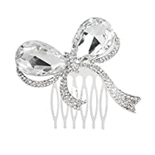 Bridal Wedding Butterfly Crystal Rhinestones Women Hair Clip Comb Slides