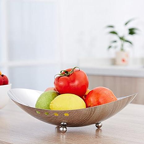 CLG-FLY cesta de fruta bombonera acero inoxidable frutera creative salón mesa comedor Muebles,*,Plata frutero: Amazon.es: Hogar