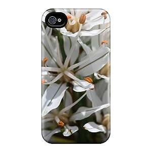 Premium Durable Asphodelus Albus Affodil Fashion Tpu Iphone 4/4s Protective Case Cover