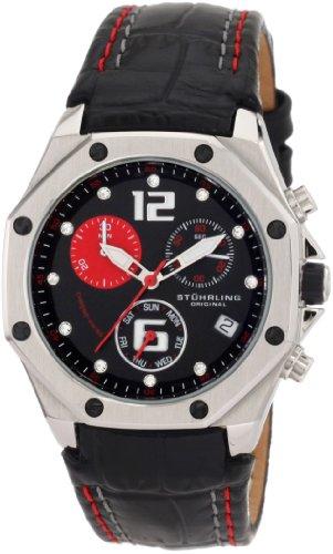 Gemstone Bezel Leather Strap Watch - 2