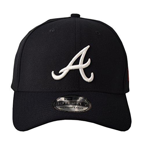 MLB Atlanta Braves Team Classic Road 39Thirty Stretch Fit Cap, Blue, Medium/Large (Atlanta Braves Cap)