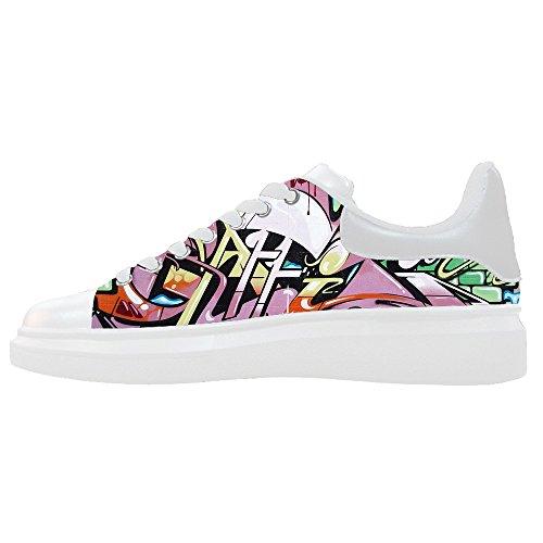 Le Scarpe Graffiti Canvas Shoes Custom Women's Scarpe p041q1AZ