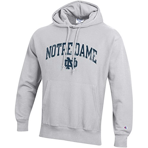 (Champion NCAA Notre Dame Fighting Irish Men's Men's Reverse Weave Hoodie, Medium, Gray)