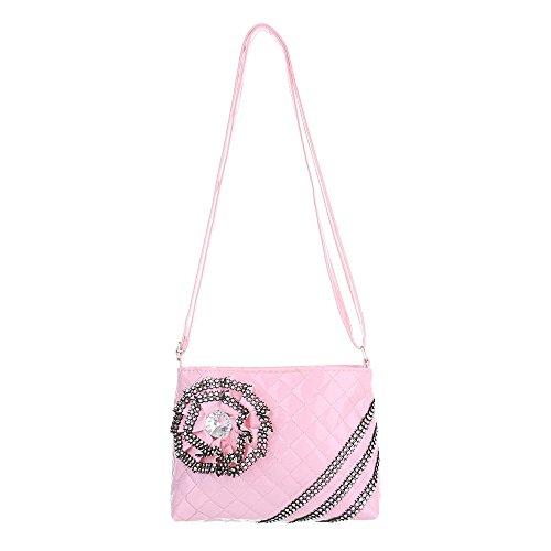 Ital-Design - Bolso al hombro de Material Sintético para mujer Rosa