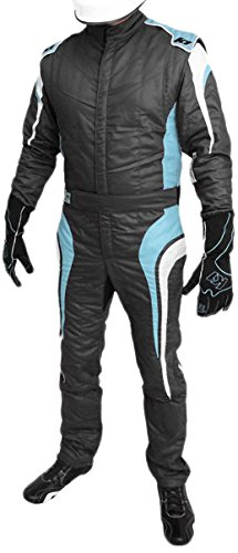 K1 Race Gear GT Nomex SFI 3.2A/5 Auto Racing Suit (Blue, Large/X-Large)
