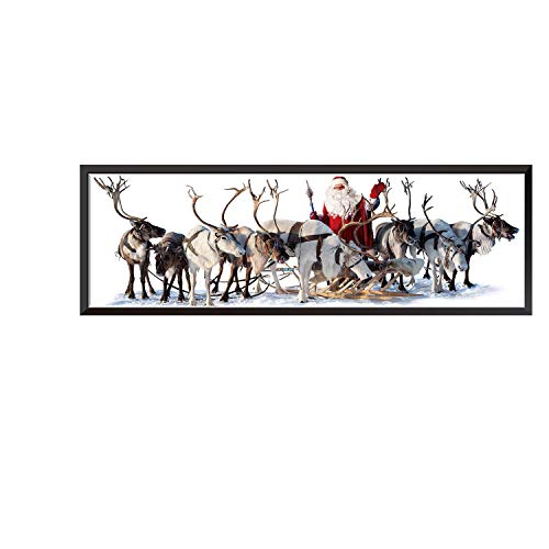 Lovewe Christmas Decorative Painting,Christmas Santa Deer Paintings Hanging For Bedroom Living room TV Wall Decoration Wall Stickers Mural (A) ()