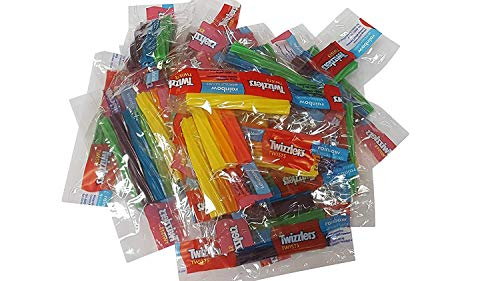Twizzlers Twists Rainbow Wrapped Candy 2 Pounds Triple Twist Pack -