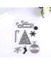 Stamp Sheet -DIY Silicone Transparent Stamp Sheet Seal Scrapbooking Album Christmas Gift Decor