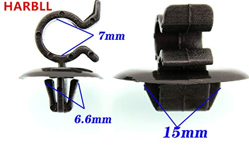 Fastener & Clip Huscus 5PCS for Peugeot 307 308 408 206 Citroen C2 C4 Triumph Elysee Plastic Fasteners for Cabin Cover Support bar clamp Clip