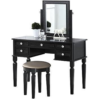 Amazon Com Bobkona F4180 Vanity Table With Stool Set