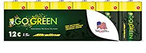 Perfpower Go Green C Alkaline Battery, 12 Count