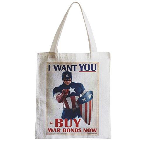 Große Tasche Sack Einkaufsbummel Strand Schüler Captain America Avengers Warbon