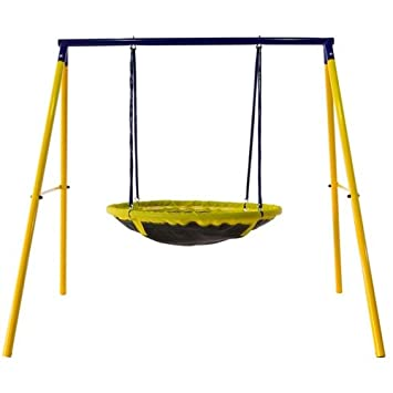 Amazon.com: UFO Backyard Swing Set UV-Resistant and Waterproof ...