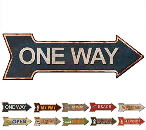 HANTAJANSS Metal Signs Arrow Retro Door Signs ()