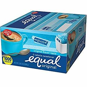 Equal 0 Calorie Sweetener, 2 lbs., 3 oz., 1,000 Packets by Equal