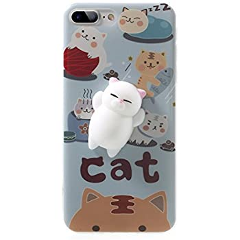 Squishy Cat Stick On Phone : Amazon.com: iPhone SE Case, MC Fashion Cute 3D Black MEOW Party Cat Kitty Whiskers Soft Silicone ...