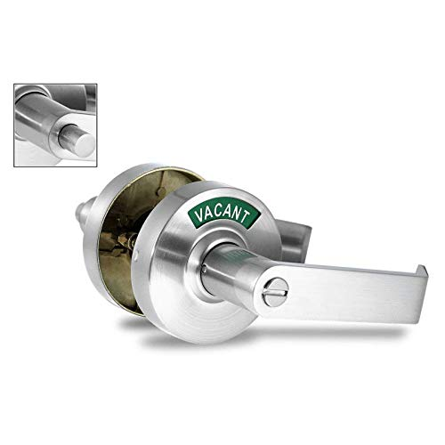 - ADA Compliant. Commercial Privacy Indicator Lock. Right-Sided. 26D Satin Chrome (C5FS-R).