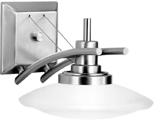 Kichler 6963NI, Structures Glass Wall Sconce Light, 1LT, 100 Watts Halogen, Brushed Nickel