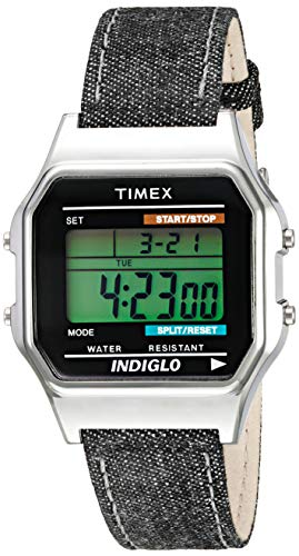 - Timex Unisex TW2P77100AB Heritage Collection Digital Display Quartz Black Watch
